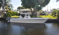 The Regulator 34 looks and feels like she's ready to take on the tournament fleet! Nominal Length: 34' Length Overall: 38.5' Max Draft: 2.3' Engine(s): Fuel Type: Other Engine Type: Outboard Draft: 2 ft. 3 in. Beam: 10 ft. 11 in. Fuel tank capacity: 380