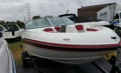 Very easy to trailer and also have great performance makes this the boat to get. You will like the way it is easy to board with a deep interior. This 196 Rinker was sold and maintained by Arnolds Boats. Runs great. Come on by and take a look. Beam: 7 ft.