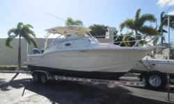 Cleanest used boat anywhere! Just traded to us, recently detailed, and ready for her next owner. This highly desirable Scout 262 Abaco shows in new condition and is loaded with amenities. Options include : Twin Yamaha 150's, low hours - under warranty