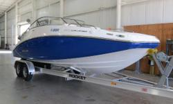 Slightly pre-owned is the best description of this 46 original hour Challenger 230.Indoor stored and professionally maintained.Brand new full cover and trailer. Twin- 4-Tec Supercharged Engines,Digital & Analog Helm Instrumentation,Tilt Steering,Battery