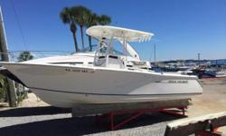 2012 Sea Hunt 234 Ultra Powered by Yamaha 250XCA Four Stroke with Less than 100 hours! She is very nicely equipped with a Powder Coated Fiberglass Hard Top, Trim Tabs, Leaning Post with Backrest, Bow Backrest, Trim Tabs, Trim Tab Indicators, RayMarine
