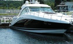 2012 58' Sea Ray Sundancer -- Black Hull Vessel with 295 Hours on MAN 900hp Diesels -- Fresh Water Vessel Since New -- Just Serviced / Fresh Bottom Paint  Loaded with Upgrades: Joystick Maneuvering System ($60k Option), Hydraulic Swim