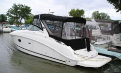 Super clean low hour ,64, boat loaded with options including a generator, triaxle trailer, and extended swim platform. You will not be disappointed in this boat. MUST SELL! Beam: 8 ft. 10 in. Fuel tank capacity: 82 Water tank capacity: 28 Holding tank