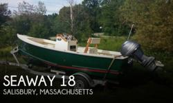Actual Location: Salisbury, MA - Stock #100268 - 2012 Seaway 18' Sportsman w/Yamaha F70-maybe 5 hours! Unbelievable fuel efficiency! New Load Right trailer! She's basically new boat w/used price tag!WThis listing is new to market. Any reasonable offer may