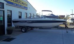 2012 Stingray 195 FX equipped with Volvo 4.3 GL 190 hp inboard/outboard motor and Motor Guide 24V trolling motor with 75 lbs thrust. Boat includes rear ladder, livewell, depth finder, radio, 4 speakers, rear tilt & trim switch, keelguard, convertible top
