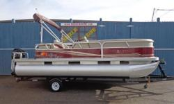 2012 SunTracker Party Barge 22 DLX*Mercury 60 HP 4 stroke Electronic Fuel Injected*AM/FM/CD/MP3*Cockpit table Pop-up changing room*9 foot bimini top*Lockable underseat dry