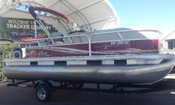Very well kept pontoon. 60 Hp Mercury 4 stroke engine, Single axle trailer, no brakes, spare tire, factory mooring cover, bimini top w/ boot. Humminbird Parana Max 190 Fishfinder, Stainless Steel BBQ pit. Used very little, stored