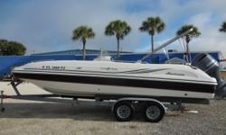 2012 Hurricane SunDeck Sport 231 OB is a center console deck boat 23 feet 2 inches in length with a beam of 8 feet 6 inches. Some of the many features include Hummingbird DF/FF. Stereo Radio System, Bimini Top, Full Cover, separate Console Cover, separate