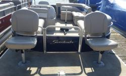 The Great Outdoors Marine - The Fun Starts Here!! Our 2012 Sweetwater 2086 BF has a Honda 9.9hp 4-stroke outboard, storage cover and a MotorGuide 55# 12V tiller handle trolling motor with a mount on the bow of the boat. You will also get included