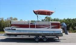 Here is a lightly used 2012 Sweetwater pontoon with a four stroke 90 hp Yamaha! Equipped with a 441S Garmin GPS depth finder and fish finder, Also a Uniden VHF ship to shore radio. This is a boat that will have tons of space for all of your friends and