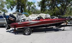 Beautiful, red, 18.6 Triton bass boat with a Mercury 150HP ProXS motor & trailer. Motor has less than 110 hours! It also has: Motor Guide 75lb thrust trolling motor, 2- 8ft Power Pole Pro-Series II, Hummingbird 858 down imaging on the