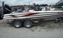 DESCRIPTION: INCLUDES225 MERCURY OPTIMAX PRO XS, HUMMINBIRD 1198 10', 1 POWERPOLE, HOT FOOT, COVER, 728 SONAR HUMMINBIRD ON BOW, AND 80lb FORTREX!!!!!! Nominal Length: 19.9' Length Overall: 19.8' Beam: 7 ft. 9 in.