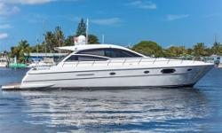 The 55 Uniesse Sport is a 3 stateroom layout, 2 head cruiser.  It will get you to the Bahamas with effortless ease being pushed by two 800hp MAN engines with Arneson surface drives. You will be going in style while cruising at 30 knots with a fuel