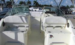 Accommodating up to 12 people the 290DC is a versatile family fishing and deck boat designed to meet the demands and challenges of experienced boaters who expect not just the highest quality and comfort, but the any-condition reliability and smooth ride