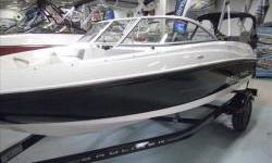 2013 Bayliner 175 BR with Mercruiser 3.0L TKS 135hp motor and matching Karavan single axle tariler with swing tongue. Package includes extended swim plarform, snap-on covers, basic stereo with MP3, and bimini suntop. View more photos at our website