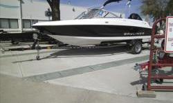 2013 Bayliner 170OB with Mercuru four stroke EFI 90hp and matching single axle bunk trailer w/ swing tongue. Package includes snap-on covers, stereo w/ MP3, bimini suntop, ski tow bar. View more photos at our website www.omahamarinecenter.com.