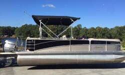 2013 Berkshire 230 CL with a Honda 115 4 Stroke ELPT. Boat and motor have 149 hours and are in great shape. This a luxury line pontoon with fancy furnishings and all the options and accessories you need for a full day on the lake. We have done a