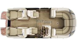 2013 Berkshire 233SLX Premium BP3 Tri-Toon Equipped with a Yamaha F150 4-Stroke MPI Contact about trailer options Whittle Boats Package Exclusive High Performance Package: Center Pontoon with Lifting Strakes, Waveshield, In-Floor Storage, Hydraulic