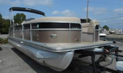 2013 Berkshire 253 SLX with Yamaha F-150. This boat features a triple tube performance hull, with aluminum underpinning and lifting strakes. Includes power assisted hydraulic steering, GPS unit, Bimini Top, rear facing lounges, stereo, SS ski tow bar and
