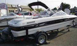 200 hp 4.3 liter fuel injected V-6 Volvo Penta, bow mount trolling motor, fish finder, livewell, snap-in carpet, stereo, driver and passenger bolster seats. - Fish 'N Ski FunNominal Length: 18'