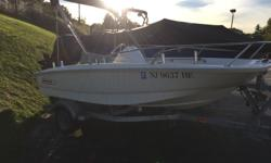 2013 Boston Whaler 130 Super Sport Mercury 40ELPT 4 Stroke Outboard Includes Bimini Top, Garmin GPSFISH Unit Stainless bow rail Galvanized Karavan Trailer included Really Nice Local Boat, Low Hours of Use No Bottom Paint $13,000 Draft: 0 ft. 7 in. Beam: 5