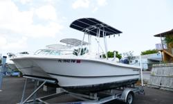 Powered By A Yamaha F115 4 Stroke Motor With Low Hours. This Boat Is Much Roomier Than Other Mono Hull Center Console Boats And Comes With Soft Stable Ride A Catamaran Gives. T-Top, GPS/Depth Fish Finder And Power Pole Just Put On Last Year. Fresh Bottom