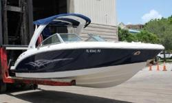 The Chaparral Sunesta 264 is the ultimate runabout built with quality by award winning Chaparral factory.This 264 Sunesta is loaded with all the extra options from the factory.Perfect for water sports or for a full day of cruising the list of