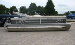 50 hp Mercury 4 stroke EFI Nice clean pontoon. Comes with rearswim ladder, dual rear facing lounge, am fm, docking lights, bimini and a mooring cover. Nominal Length: 23' Stock number: N/A