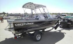 Deal pending!New model for 2013! Crestliner 1850 SuperHawk with Mercury 115hp four stroke efi and matching single axle trailer with swing tongue, brakes, load guides, and spare tire.Package includes aft jumpseat layout, reclining captains chair upgrade