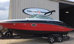 350MAG, Ceramic head, Bravo III, Upgraded sound system, Under water LED lights, Interior LED lights, Depth Finder, Upgraded wheels, very low hours (270hrs), Teak look mat on swim platform, Pump out head, and much more! Call for info! WILL NOT LAST LONG!