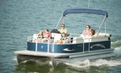 Pre-Owned Rental Fleet Boat. We are upgrading our rental pontoon boats next season and have two available. Both local, freshwater, use. Minimal wear and tear. Excellent value vs. new. 50 HP Merc electric start four stroke. Complete Vinyl floor, cockpit