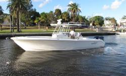 2013 Edgewater 318 CC One of the most popular Edgewater models, the 318CC is a capable offshore center console with the added comfort of additional seating and a console head.  This 318 is offered for sale from its original owner, and has been lift