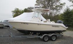 26 HOURS! YES, 26 HOURS! 2013 Everglades 210CC with 250hp Yamaha Four Stroke Sea Lion Tandem Roller Trailer ( 4,000) Garmin Radar, Plotter, & Sounder ($10,000) Custom ordered hull color and cushions ($3,000) Optional hardtop ($6,000) Nominal Length: 21'