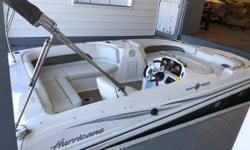 STOCK LIMITED 2013 Hurricane SunDeck Sport SS 188 I/O When you're looking for a family boat, there's only one thing that you want: Everything. You need a boat that's ready to play hard and perform well, trip after trip, year after year, no matter what