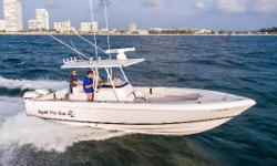 PRICE REDUCTION: This 30' Intrepid is rigged for fishing, lift-kept, and very well maintained. She cruises at 35mph burning 1.7mpg and has a top speed of 65 mph. Seller is motivated---he does not want to be a 3-boat owner. Key Features: -127 hrs on twin
