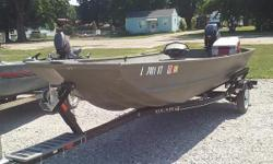 ON CONSIGNMENT: 2013 LOWE 1648MT WITH A MERCURY 9.9 HP  FOUR STROKE ENGINE AND BEAR  TRAILER. THE SELLER DID ALOT OF CUSTOMIZING , ADDING A CASTING DECK, FLOOR AND MOTOR GUIDE WIRELESS TROLLING MOTOR, GARMIN FISH FINDER AND