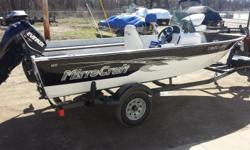 For sale is a super clean 2013 MirroCraft 1616 Troller fishing boat. This immaculate fishing machine only has 24 hours of run time on a 2013 Evinrude E-TEC 40 HP outboard motor. The motor and boat are still under full warranty. The boat is showroom