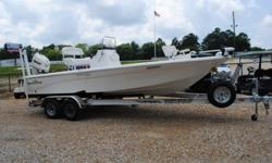 LOADED 2013 NauticStar 2110 SB Purely a fishing boat this machine is equipped with exactly what you need to be successful on your next fishing trip. With its two livewells, lockable rod storage and BayStar pro-steering this is a winning boat package.