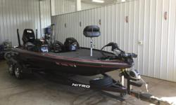Beautiful Nitro Z-9 with some really nice equipment. Dual Console, Fortrex 112 trolling motor, 2 power pole blade series, hummingbird 1198 at bow and 998si at console. Hot foot, stealth charging system, hydrowave and much more! Call our Sales Team for