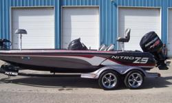 2013 Nitro Z9, STK# B7 RED/GRAY POWERED BY MERCURY 250 PRO XS WITH WARRANTY UNTIL 04/26/2019, LOWRANCE HDS8 CONSOLE, LOWRANCE HDS7 BOW, MINNKOTA 112 LBS/36V, COVER, 4 BANK CHARGER, FISH BAG FILLER, FRONT STEP. Nominal Length: 20' Stock number: B7