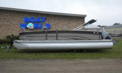 2013 Premier 250 Solaris Pontoon & 150HP Yamaha 4-Stroke EFI. This 25' Premier Pontoon Features, Two Port Side High Back Reclining Deluxe Swivel Seats With A Table, Starboard Front Lounge/Bench Seat With Storage, Middle High Back Reclining Deluxe Swivel