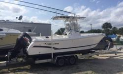 2013 Pro Line 2300 CC Features ? Suzuki 225HP ? T-Top ? Outriggers ? GPS ? Stereo ? VHF ? L-Post ? Livewell ? Trailer Details ? Length: 23 ft. 0 in. ? Propulsion Type: Outboard ? Hull Material: Fiberglass Extras ? VHF Radio ? Gps/Loran ? Depth/Fish