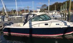 2013 Pursuit OS315 powered with Twin Yamaha F300 with just 300 hours.  Very nice boat.  No generator.  AC, shore power, great condition. Garmin 7212 with radar, VHF, factory stereo.  Bow thruster. PRICE REDUCTION, MOTIVATED