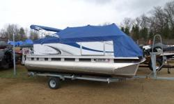 CRUISE THE LAKE THIS SUMMER - CALL TODAY FOR MORE DETAILS! COMES WITH A 16 FT. BUNK TRAILER! Pontoon boats are perfect for spending the day with friends and family. With its comfort and quality construction, the beauty of the Qwest Adventure is its easy