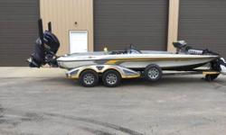 Very Nice Ranger with a very large fishing platform and some great equipment. Minnkota ultrex 112, Lowrance Hds 10 w/structure scan, Lowrance Hds 7, Lowrance Sonic hub. 2-10' power pole bladed series. 4 bank charger, cover and dual trim lever. Call