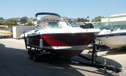 Owner must sell. Doesn't want to but financial hardship forces sale. Bought the boat for $68k and added vhf radio and bottom paint right away. Wideband Roulette Red with Yamaha 250hp. Vhf Radio, Gps/ Fish Finder combo, Aft Folding Seat, Bimini Top, Bow