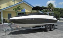 Beautiful Sea Ray 240 with trailer only 225hrs 5.0 mercruiser with bravo three drive and all the goodies! upgraded stereo, front and rear wash down, forward boarding ladder, two cockpit table, bow and cockpit cover, push button start, dual battery switch,