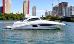 COURTESY SHOWINGS DURING THE BOAT SHOW KEY FEATURES Original owner Low hour Man 900 CRM engines Two staterooms, two heads Stidd helm chairs (2) Stidd double companion seating (1) Raymarine electronics KVH Satellite TV Bow and stern thrusters Air