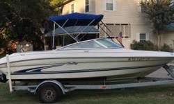 2000 Sea Ray 185 BR 2000 Sea Ray 185 Bow Rider model in great condition 19 feet in overall length Equipped with a 200hp 4.3 Liter MerCruiser Gen II Gas engine that has fully been rebuilt Currently with ZERO (0) hours on it! Great boat super clean and has