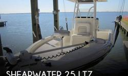 Actual Location: Texas City, TX - Stock #062664 - If you are in the market for a fishing boat, look no further than this 2013 Shearwater 25 LTZ, just reduced to $74,995.This boat is located in Texas City, Texas and is in mint condition. She is also
